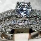 3.0+ CT VICTORIAN ANTIQUE ENGAGEMENT RING SET Sz 7 * NEW *