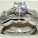 Engagement/Wedding Ring set * 1.5 CT Brilliant cut * SZ 5,6,7,8,9 *