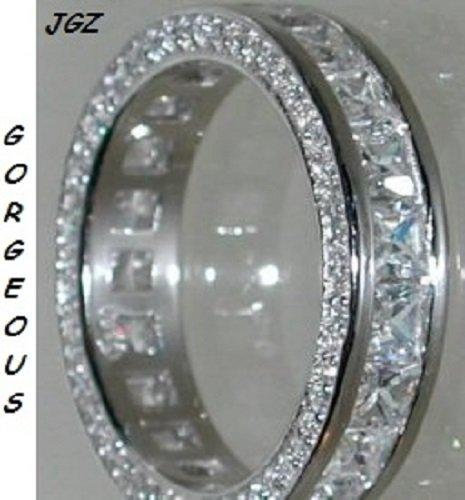 Vintage Princess cut Anniversary - Eternity Band Sz 5,6,7,8,9 * NEW *
