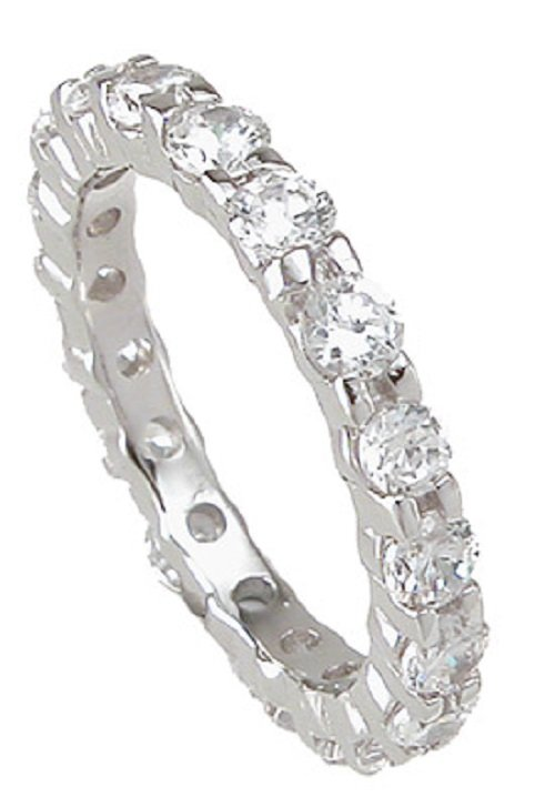 1.0 CT Round Brilliant cut Anniversary/Eternity Band* Sz 5/6/7/8/9 * NEW *