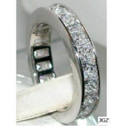 3.0 ct PRINCESS CUT ANNIVERSARY/ ETERNITY Sz 8 NEW