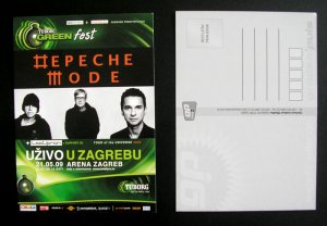 Depeche Mode 5 Promo POSTCARDS Zagreb Croatia - WITHDRAWN