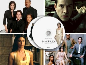 Matrix 258 PRESS PHOTOS & POSTERS - 22 promo CDs Keannu Reeves, Monica Bellucci