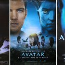 3 Croatian POSTERS Avatar James Cameron - complete set 3 different versions RARE!