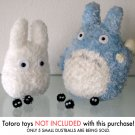 5 goofy DUST BALLS Totoro Spirited away Ghibli HANDMADE plush figurines toys