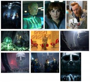 Prometheus (Alien prequel) - 10 glossy PRESS PHOTOS Charlize Theron, Michael Fassbender
