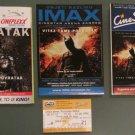 3 Movie PROGRAMS + TICKET stub Croatia, Dark Knight Rises promo Batman Christian Bale