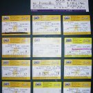 TICKET stub set Silver Linings Playbook, Monrise Kingdom, Chemical Brothers, Olympus has fallen, Ted