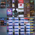 3 Movie PROGRAM + TICKET stub Croatia, The Expendables 2 + 3, Statham, Van Damme, Willis, promo