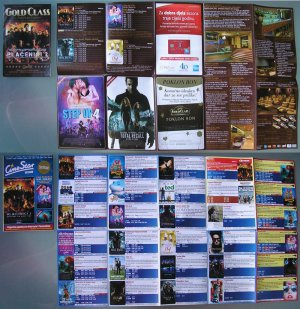 3 Movie PROGRAM + TICKET stub Croatia, The Expendables 2 + 3, Statham, Van Damme, Willis, promo
