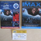 MOVIE PROGRAM + TICKET stub IMAX Croatia, Man of Steel Superman Henry Cavill, promo