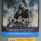 MOVIE PROGRAM + TICKET stub Croatia, Thor the Dark World, Chris Hemsworth, Natalie Portman promo