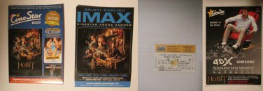 Croatian 4DX movie PROGRAM + TICKET stub promo The Hobbit The Desolation of Smaug
