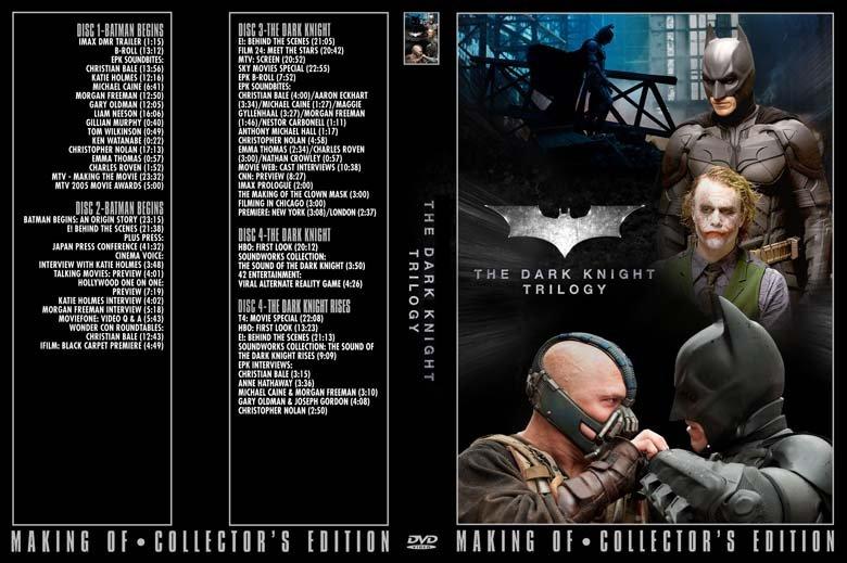Batman Begins, Dark Knight, Rises - 4 DVD set PRESS KIT & TV PROMOS Bale, Heath Ledger, Nolan