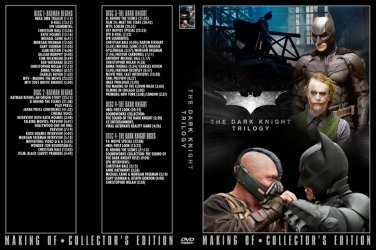 Batman Begins, Dark Knight, Rises - 4 DVD set PRESS KIT & TV PROMOS Bale, Heath Ledger, Nolan