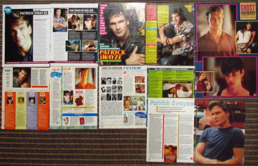 Patrick Swayze UK and Sweedish vintage magazine Clippings + pinup poster