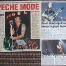 NEW! 29 magazine CLIPPINGS cuttings CROATIA, UK Depeche Mode, Dave Gahan Delta Machine tour