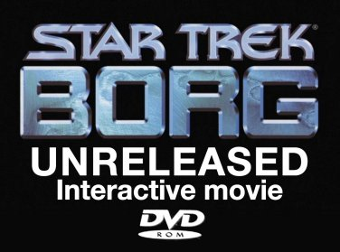 NOT a PC game! UNRELEASED Japan Star Trek Borg interactive DVD movie John de Lancie Rare collectible