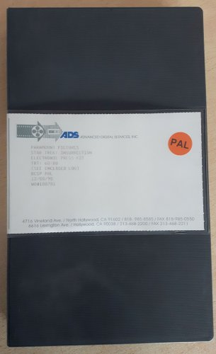 Star Trek Insurrection EPK Video Press kit Betacam SP broadcast tape promo collectible