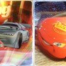 2 Disney Pixar Cars 3-D place mats plastic table mat kids Lightning McQueen