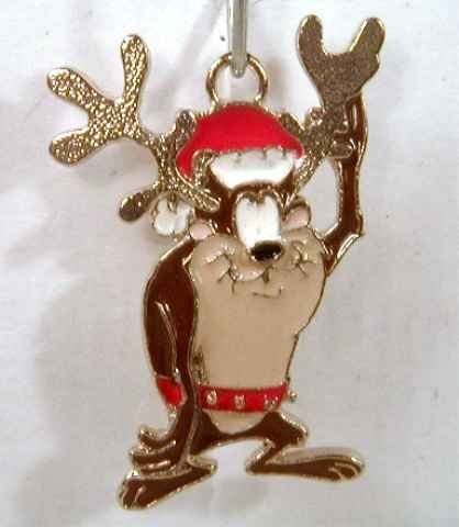 Looney Tunes TAZ as a Reindeer Charm GREAT XMAS GIFT