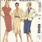 McCALL'S 6948 PATTERN 1980 MISSES' JACKET AND DRESS SZ 14 UNCUT