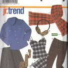 SIMPLICITY 9841 PATTERN 2001 JR SKIRT,PANTS,CAMISOLE,PANTIES,TIE,SCARF,EAR MUFFS