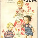 KWIK SEW 246 PATTERN INFANT'S SLACKS, ROMPER & T-SHIRTS IN SIZES SM/MD/LG/XLG