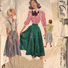 McCALL'S 7241 PATTERN GIRL'S CIRCLE SKIRT AND BLOUSE IN 2 STYLES SIZE 14