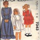 McCALL'S 7343 PATTERN GIRLS DRESS IN 3 STYLES SIZE 5