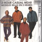 McCALL'S 7409 DATED 1994 UNISEX UNLINED JACKET, TOP, PULL-ON PANTS SIZE LG 38-40