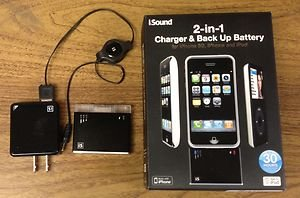 ISound from dreamGear 2-in1 CHARGER & BACK UP BATTERY FOR iPHONE 3G, iPHONE,iPOD