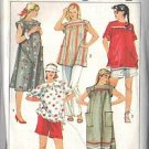SIMPLICITY PATTERN 6857, DATED 1985, MATERNITY DRESS, TOP, SHORTS, PANTS SZ 16