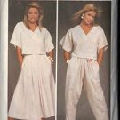SIMPLICITY 6742 PATTERN MISSES' EASY TO SEW TOP, SKIRT & PANTS  SIZE 12