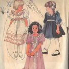 SIMPLICITY 6713 PATTERN GIRL'S DRESS IN 3 LENGTHS SZ 5