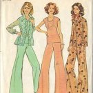 SIMPLICITY 6668 PTRN 1974 MISSES' SHIRT JACKET, PANTS, TOP SIZE 14 1/2 & 16 1/2