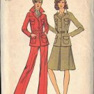 SIMPLICITY 6631 PATTERN DATED 1974 MISSES' JACKET, SKIRT AND PANTS SIZE 8