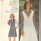 SIMPLICITY 6629 PATTERN DATED 1974 MISSES' PRINCESS SEAMED JUMPER 2 STYLES SZ 14