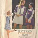 SIMPLICITY 6566 PATTERN GIRL'S BASIC JUMPER PATTERN SZ 12 DATED 1974