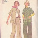 SIMPLICITY 6529 PATTERN DATED 1974 MISSES' JACKET & PANTS SZ 10