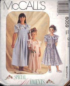 McCALL'S PATTERN 8059 DATED 1996 GIRL'S DRESS from SPECIAL MOMENTS SZ 4/5/6