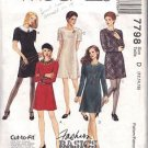 McCall's pattern 7798, dated 1995, for Misses' DRESS IN 5 VARIATIONS size 12-14