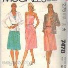 McCall's Pattern 7478 dated 1981 Misses' Jacket, Dress, Belt size 14