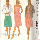 McCall's Pattern 7478 dated 1981 Misses' Jacket, Dress, Belt size 12