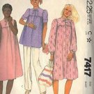 McCALL'S 7417 Maternity PATTERN DATED 1981 for dress, top, pants Size 12