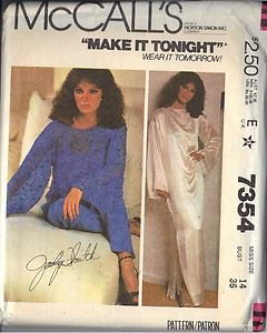 McCall's Pattern 7354 dated 1980 Misses� Cover-up,Dress or Top and Pants size 14