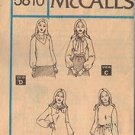 McCALL'S PATTERN 5810, MISSES' BLOUSE IN 4 VARIATIONS SZ 14