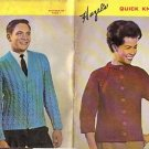 HAZEL'S QUICK KNITS BOOK 6 FOR MEN AND WOMEN'S SWEATERS DATED 1968