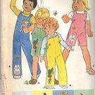 BUTTERICK PATTERN 6020, TODDLERS' OVERALLS AND APPLIQUE TRANSFERS SZ 3 UNCUT