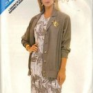 BUTTERICK PATTERN 5815, DATED 1987, MISSES' JACKET, DRESS SZ 8-10-12 UNCUT